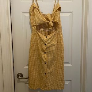Bow Tie Front Stripe Slip Dress
